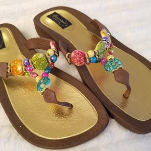Jeweled, Grandco sandals, excellent condition!